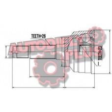 homokinetický kĺb, vonkajší,  MAZDA MPV LW 2.0 99-02 GA2022510 NPZ-MZ-048